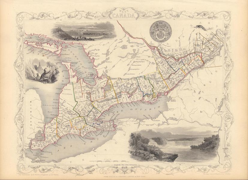The Illustrated Atlas - West Canada (1851)