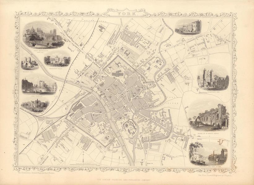 The Illustrated Atlas - York (1851)