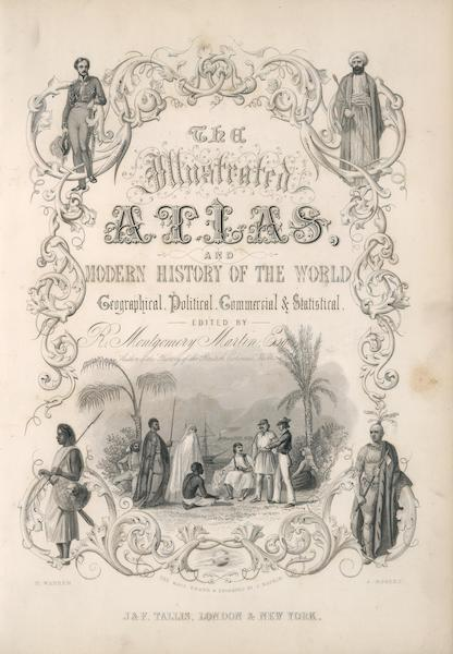 The Illustrated Atlas - Illustrated Title Page (1851)