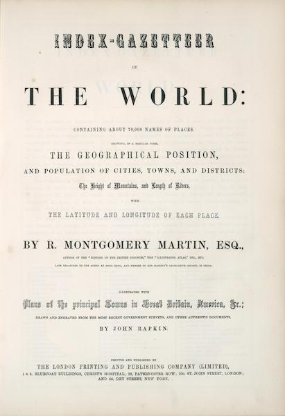 The Illustrated Atlas - Title Page (1851)