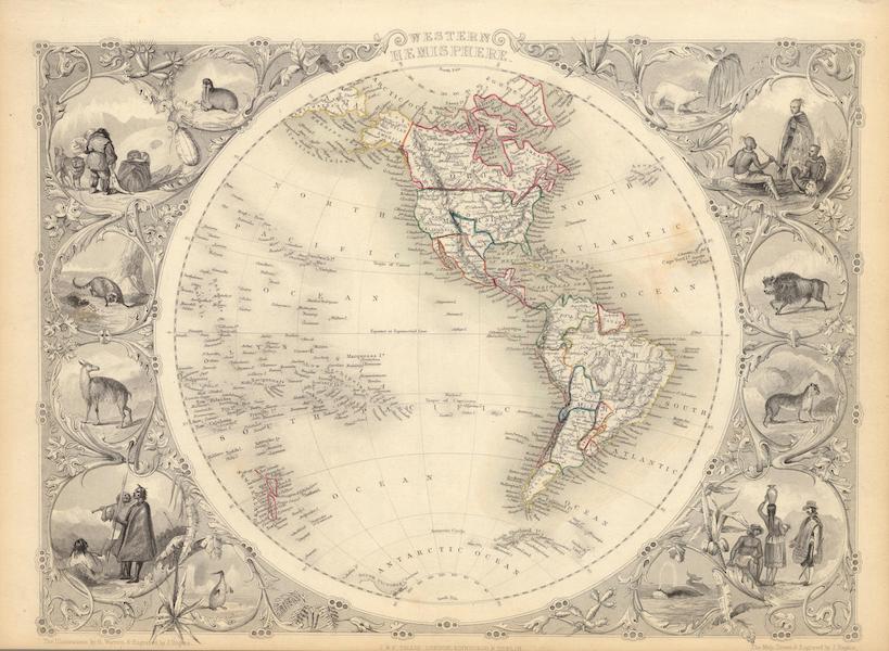 The Illustrated Atlas - Western Hemisphere (1851)