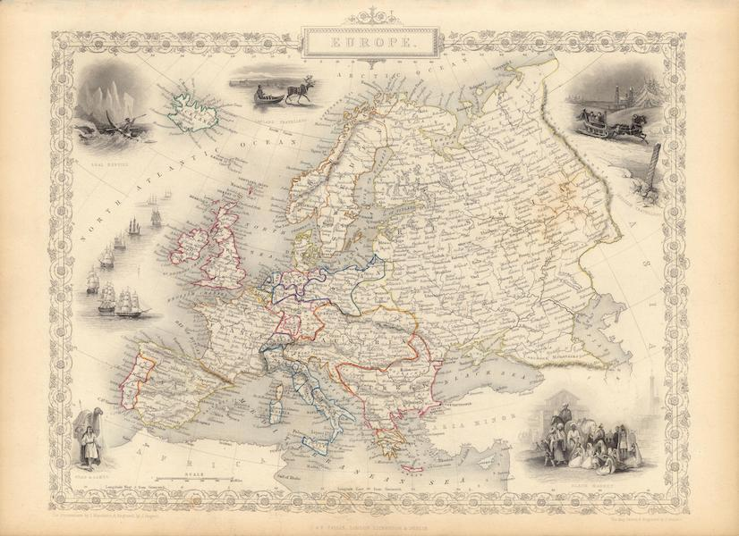 The Illustrated Atlas - Europe (1851)