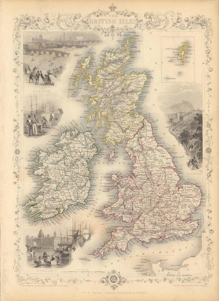 The Illustrated Atlas - The British Isles. (with) inset map of the Shetland Islands. (1851)
