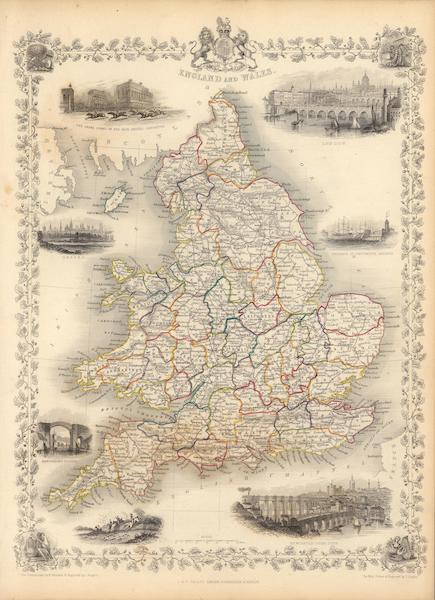 The Illustrated Atlas - England and Wales (1851)