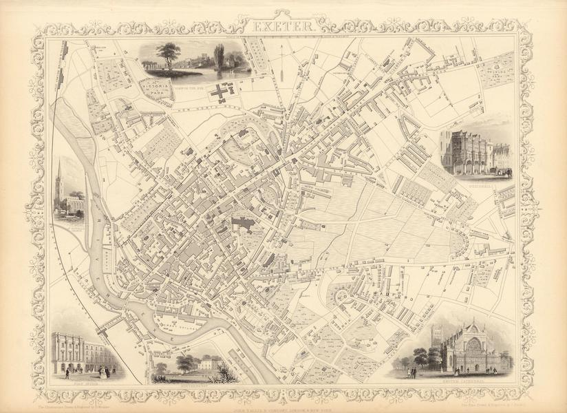 The Illustrated Atlas - Exeter (1851)