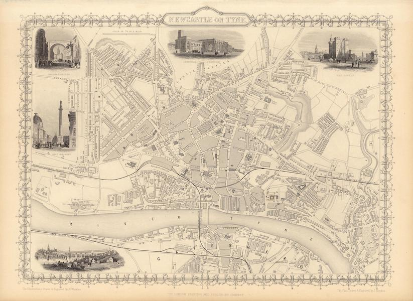 The Illustrated Atlas - Newcastle on Tyne (1851)