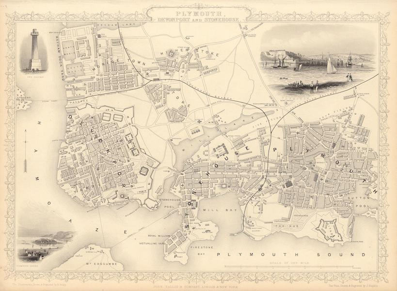 The Illustrated Atlas - Plymouth, Devonport and Stonehouse (1851)