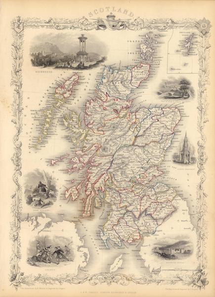 Scotland (with) inset map of the Shetland Islands