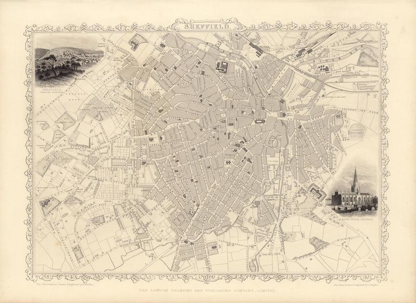 The Illustrated Atlas - Sheffield (1851)