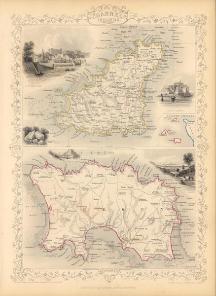 Channel Islands. (with) inset map of the English Channel