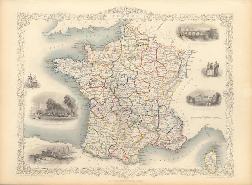 The Illustrated Atlas - France (1851)