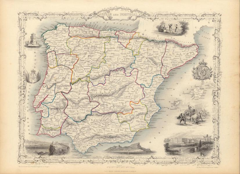 The Illustrated Atlas - Spain and Portugal (1851)