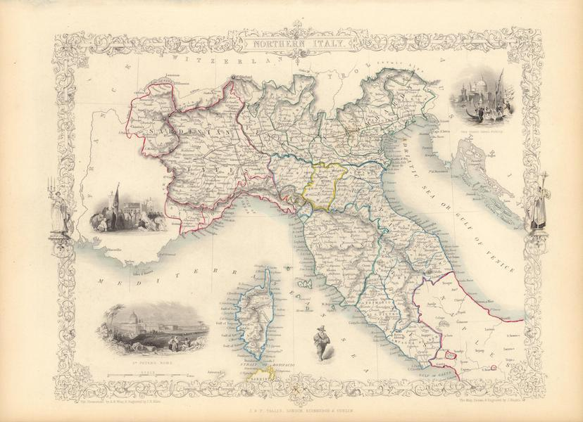 The Illustrated Atlas - Northern Italy (1851)