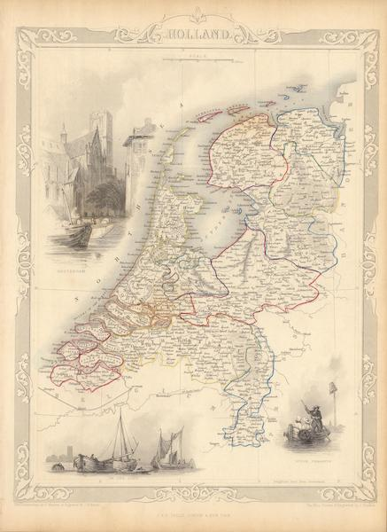 The Illustrated Atlas - Holland (1851)