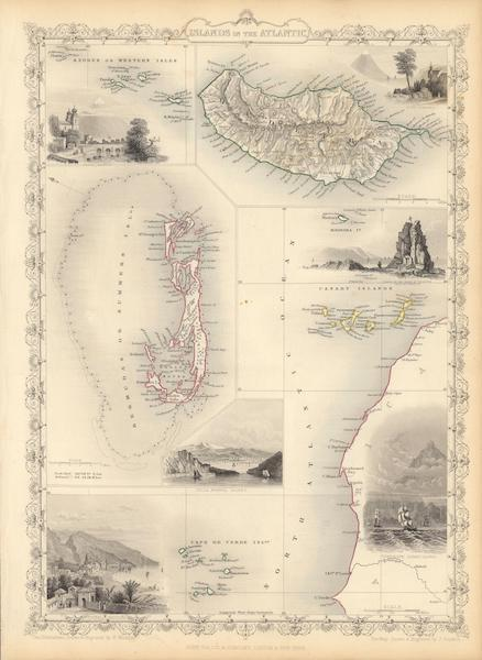 The Illustrated Atlas - Islands in the Atlantic (1851)