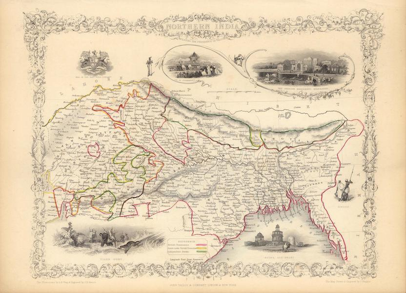 The Illustrated Atlas - Northern India including the Presidency of Calcutta (1851)