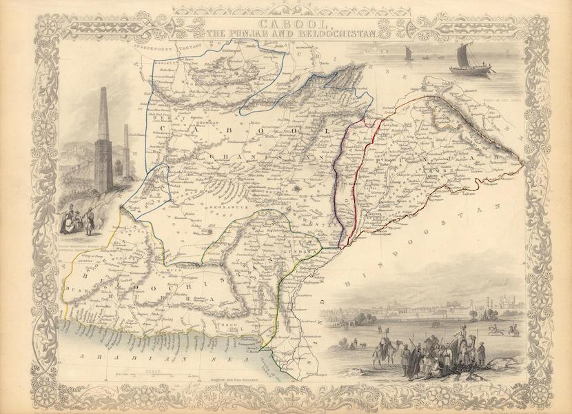 The Illustrated Atlas - Cabool, the Punjab and Beloochistan. (1851)