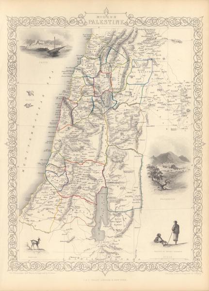 The Illustrated Atlas - Modern Palestine (1851)