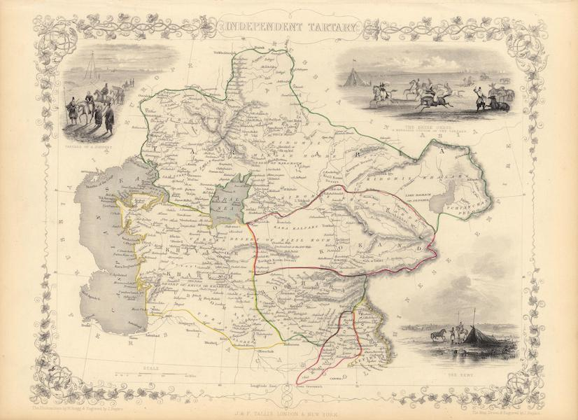 The Illustrated Atlas - Independent Tartary (1851)