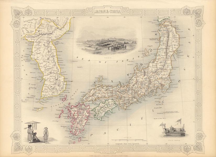 The Illustrated Atlas - Japan & Corea (1851)