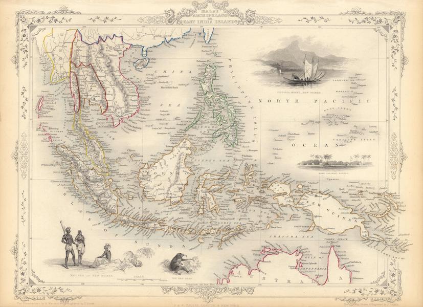 The Illustrated Atlas - Malay Archipelago, or East India Islands (1851)