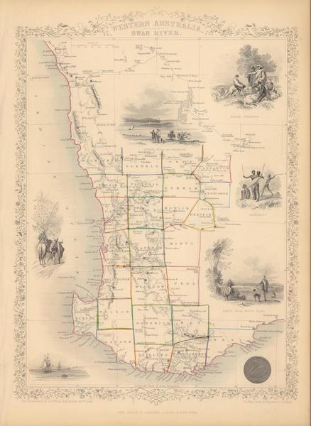 The Illustrated Atlas - Western Australia, Swan River (1851)