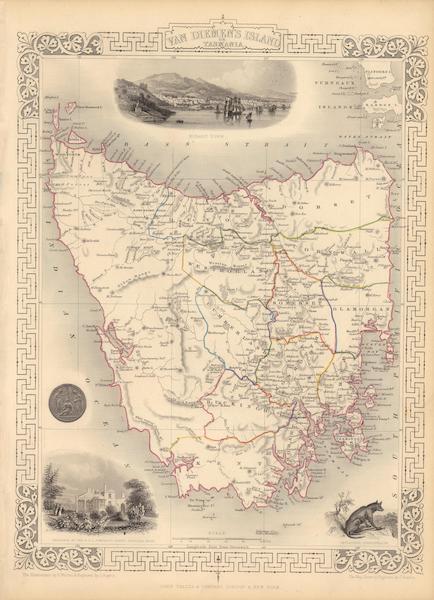The Illustrated Atlas - Van Diemen's Island or Tasmania (1851)