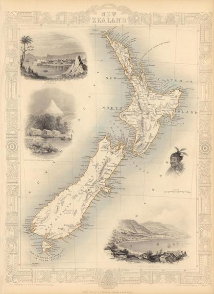 The Illustrated Atlas - New Zealand (1851)