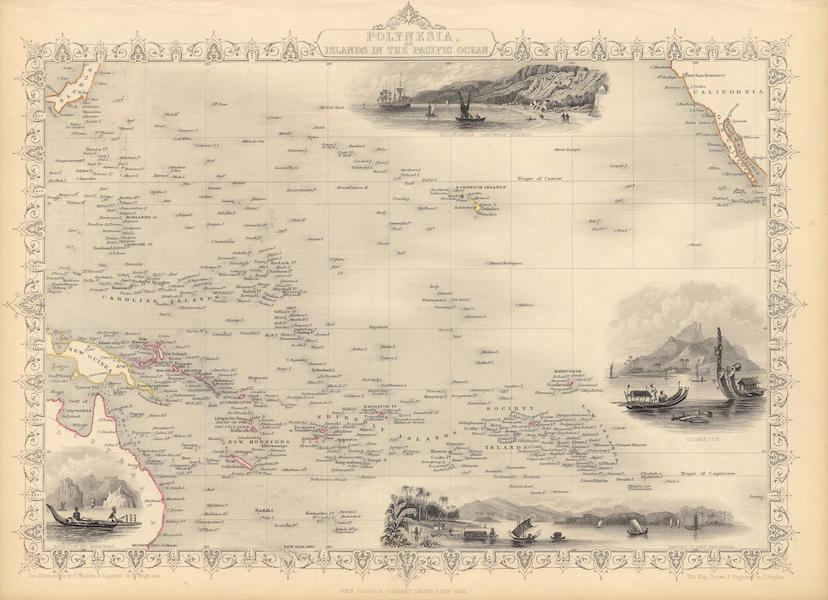 The Illustrated Atlas - Polynesia, or Islands in the Pacific Ocean (1851)
