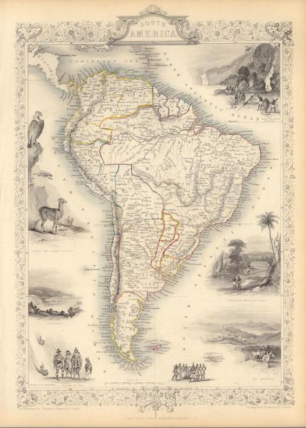 The Illustrated Atlas - South America (1851)