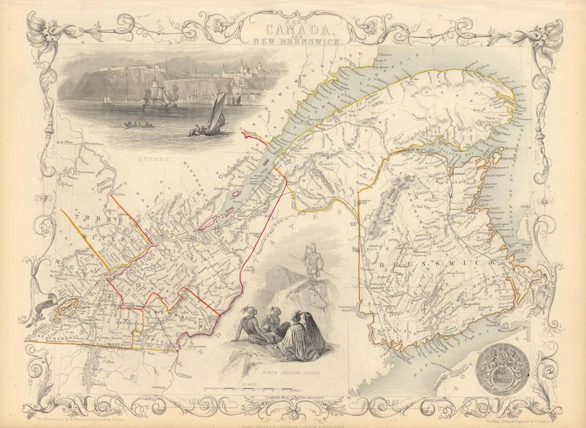 The Illustrated Atlas - East Canada and New Brunswick (1851)