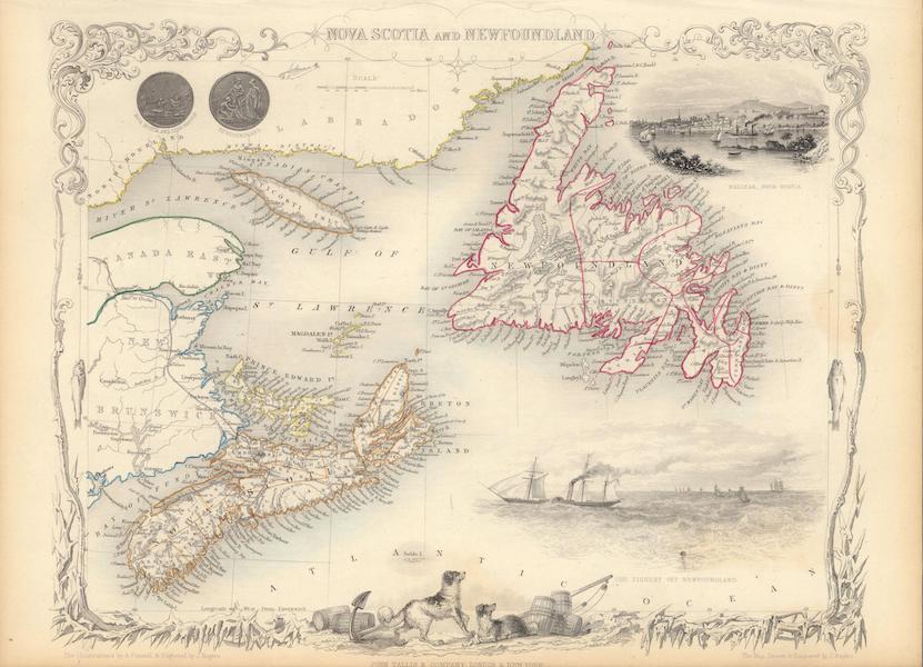 The Illustrated Atlas - Nova Scotia and Newfoundland (1851)