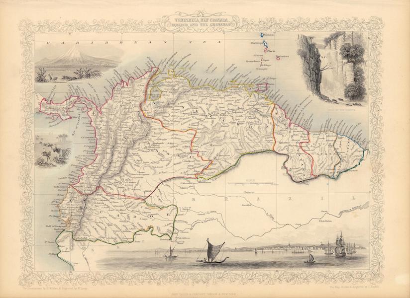 The Illustrated Atlas - Venezuela, New Granada, Equador, and the Guayanas (1851)