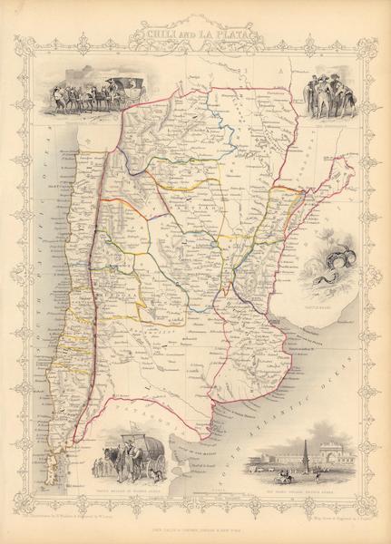 The Illustrated Atlas - Chili and La Plata (1851)