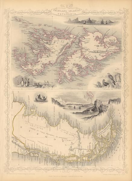 The Illustrated Atlas - Falkland Islands and Patagonia (1851)