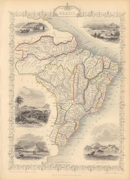 The Illustrated Atlas - Brazil (1851)