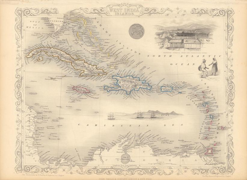 The Illustrated Atlas - West India Islands (1851)