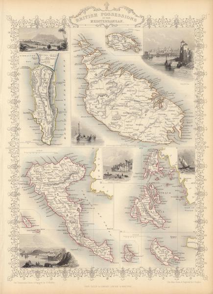 The Illustrated Atlas - British Possessions in the Mediterranean (1851)