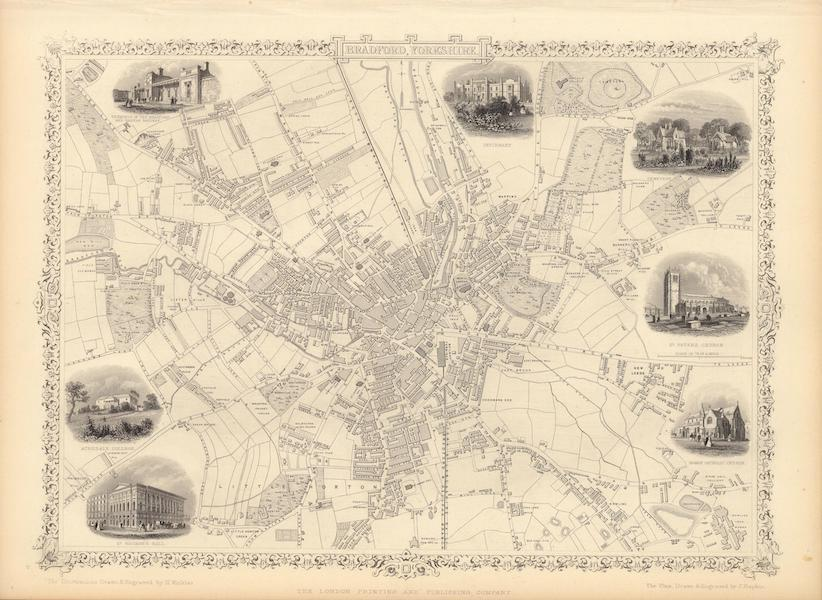 The Illustrated Atlas - Bradford, Yorkshire (1851)