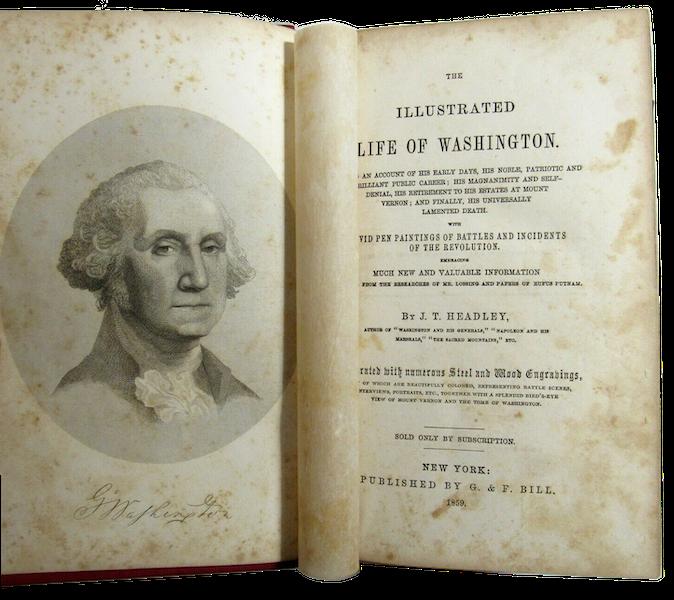 The Illustrated Life of Washington - Book Display [III] (1859)