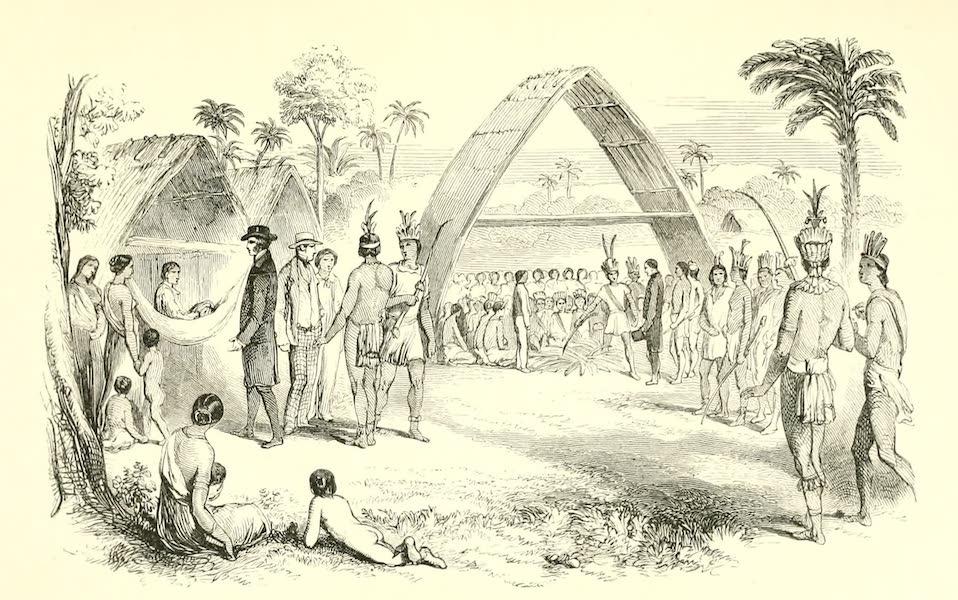 The Indian Tribes of Guiana - Assembly of Arawaks at Mahaiconi, 1844 (1868)