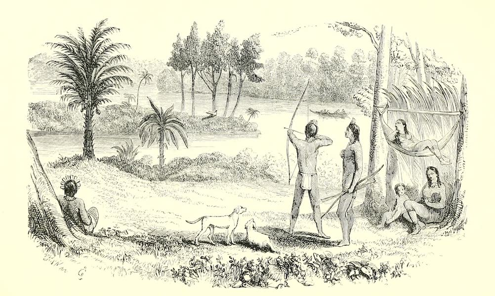The Indian Tribes of Guiana - Caribi Encampment on the Upper Pomeroon (1868)