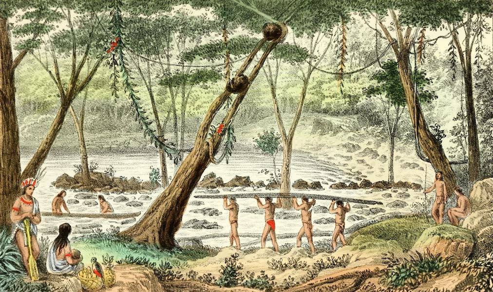 The Indian Tribes of Guiana - Landing Place Above Demerara Falls (1868)