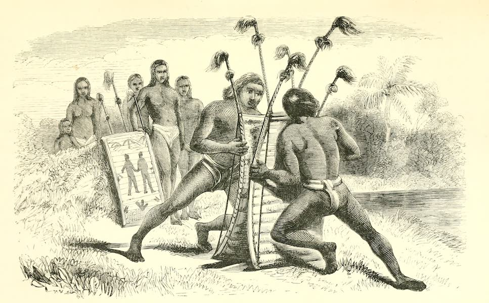 The Indian Tribes of Guiana - Shield-Wrestling (1868)