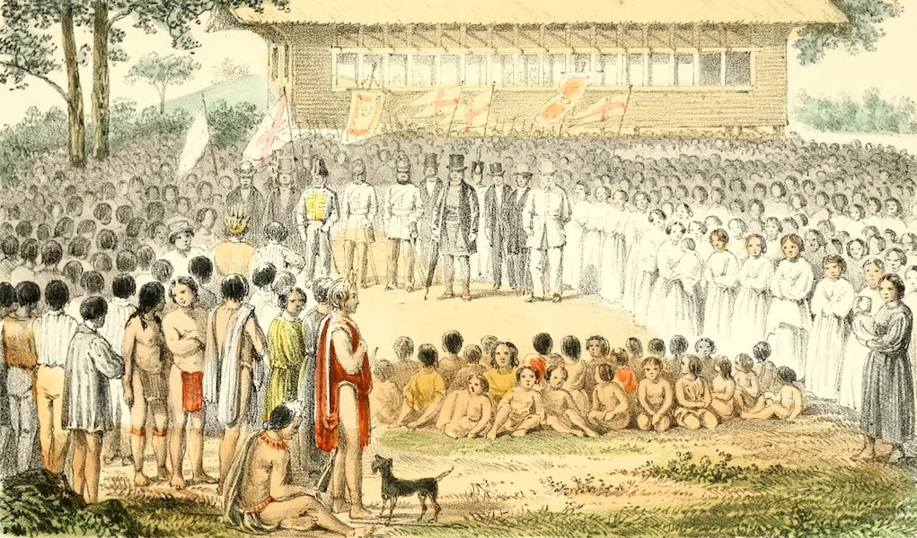 The Indian Tribes of Guiana - Assembly of Indians at Waramuri, 1866 (1868)