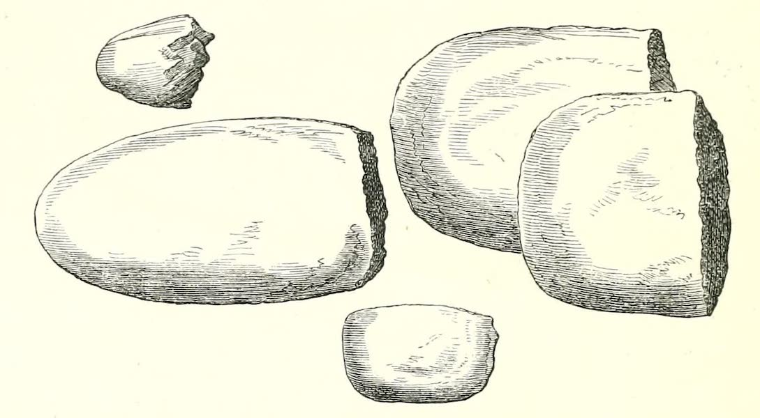 The Indian Tribes of Guiana - Speciments of Broken Stone Implements found in the Mounds (1868)