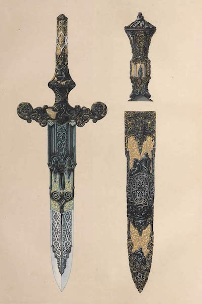 The Industrial Arts of the Nineteenth Century Vol. 1 - Dagger and Sheath by Zoloaga, Madrid (1851)