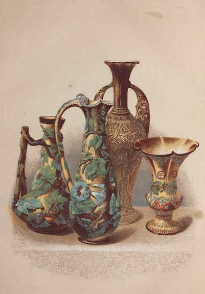 The Industrial Arts of the Nineteenth Century Vol. 1 - Group of Vases in Beauvais ware by Mansard, Voisinlieu, near Paris (1851)