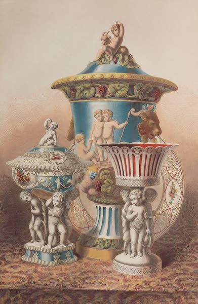 The Industrial Arts of the Nineteenth Century Vol. 1 - Group of Vases, &c. by Minton, Stoke-upon-Trent (1851)