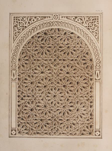 The Industrial Arts of the Nineteenth Century Vol. 1 - Window Ornament, from Tunis (1851)